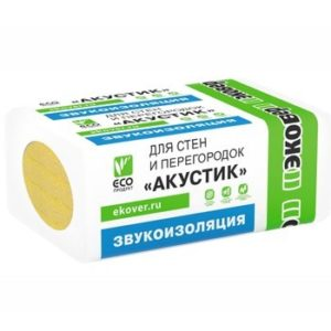 Утеплитель Эковер Акустик 1000х600х50 мм 12 шт в упаковке