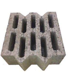 Керамзитоблок М 50 390х390х188 стеновой (пазогребневый)