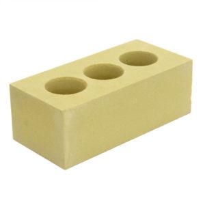 Кирпич силикатный полуторный пустотелый светло-желтый
