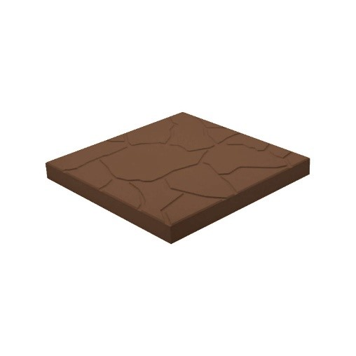 Тротуарная плитка «Песчаник» 300х300х30 коричневый