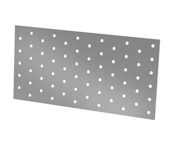 Перфорированная монтажная пластина 240х120х2 мм