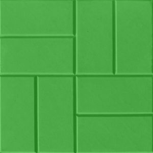 Тротуарная плитка «8 кирпичей» 400х400х50 (зеленый, кирпичный)