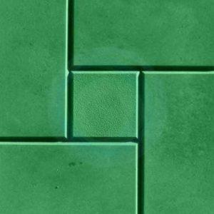 Тротуарная плитка «Калифорния» 300х300х30 (зеленый, кирпичный)