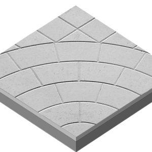 Тротуарная плитка «Колодец» 400х400х50 (белый)