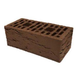 Кирпич полуторный пустотелый лицевой «Шоколад рустика»