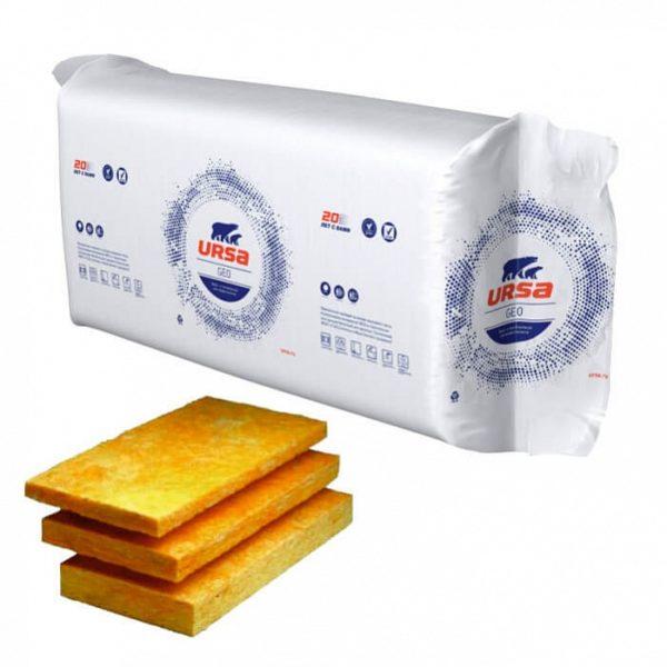 Плиты теплоизоляционные URSA GEO П-20 1250х610х50 мм 24 шт в упаковке