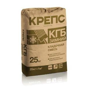 Кладочная смесь для ячеистых блоков Крепс КГБ зимний, 25 кг