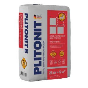 Клей для плитки (С1 Т) Плитонит В, 25 кг