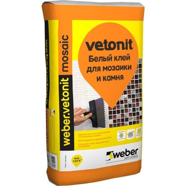 Клей (С1 Т) weber.vetonit mosaiс,  для мозаики и камня, 25кг
