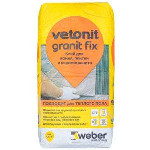 Клей (С0 Т)weber.vetonit easy fix для плитки и керамогранита, 25кг