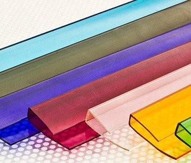 Торцевой профиль, цветной 4 мм