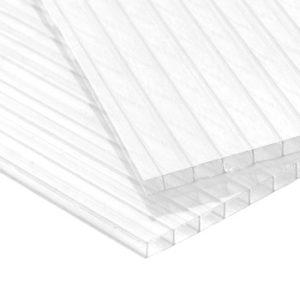 Сотовый поликарбонат прозрачный Кристалл, 4 мм, лист 2100х12000