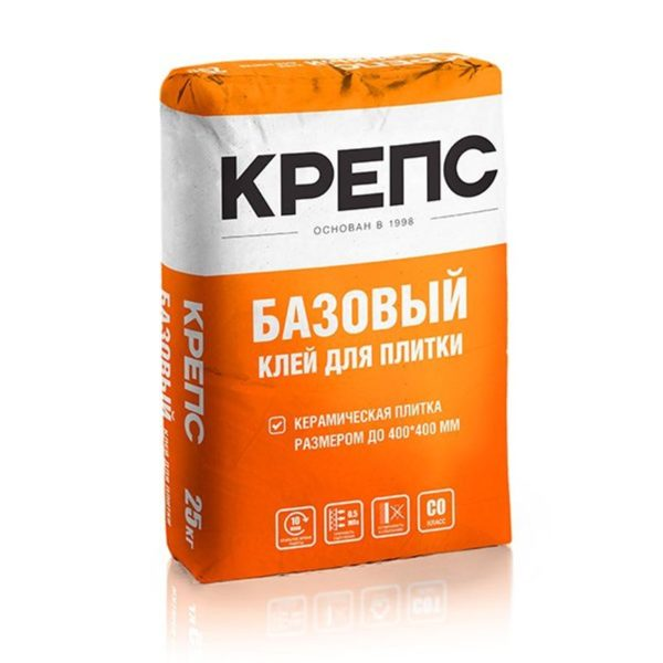 Клей для плитки (С0) Крепс Базовый, 25 кг
