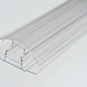 Профиль соединительный из 2-х частей БАЗА, прозрачный  6-10 мм