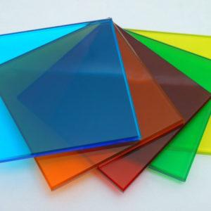 Монолитный поликарбонат цветной Кристалл 2 мм, лист 2050х3050