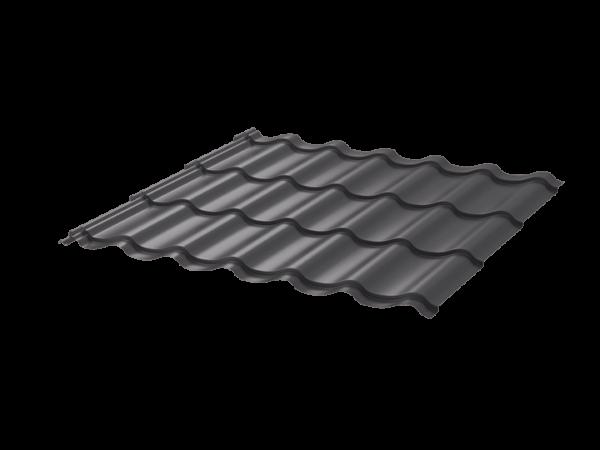 Металлочерепица Монтеррей 0.45 ПЭ RAL7024 серый графит