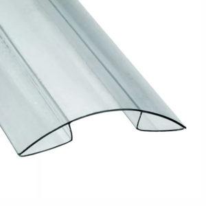 Коньковый профиль прозрачный 4-6 мм