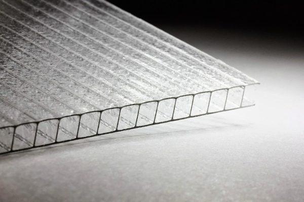 Сотовый поликарбонат Колотый лед Премиум, 4 мм, лист 2100х12000