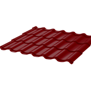 Металлочерепица Монтеррей 0.45 ПЭ RAL3005 красное вино