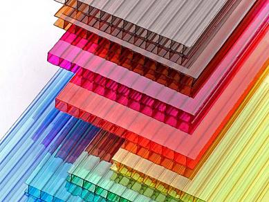 Сотовый поликарбонат цветной Премиум, 4 мм, лист 2100х12000
