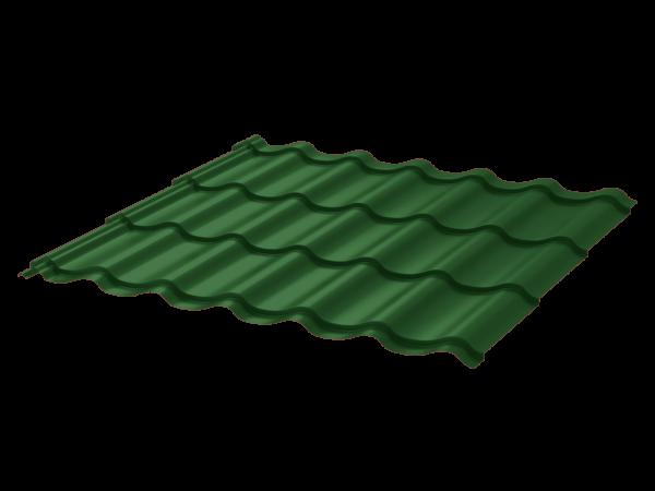 Металлочерепица Монтеррей 0.45 ПЭ RAL6005 зеленый мох