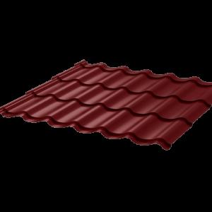 Металлочерепица Монтеррей 0.45 ПЭ RAL3011 коричнево-красный