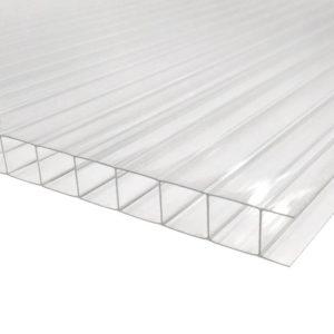 Сотовый поликарбонат прозрачный Премиум, 4 мм, лист 2100х12000