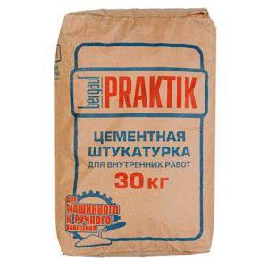Штукатурка цементная для внутренних работ Bergauf Praktik, 30 кг