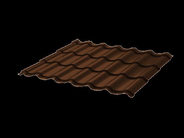 Металлочерепица Монтеррей 0.45 ПЭ RAL8017 шоколад