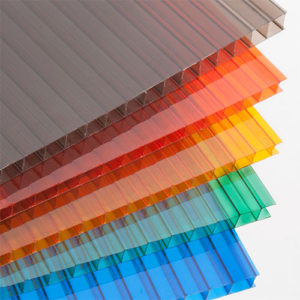 Сотовый поликарбонат цветной Кристалл, 4 мм, лист 2100х12000
