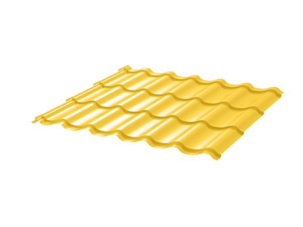 Металлочерепица Монтеррей 0.45 ПЭ RAL1018 цинково-желтый
