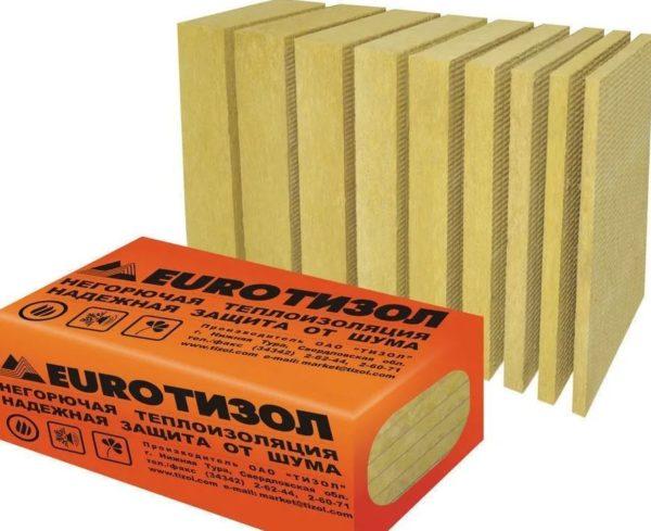 ТИЗОЛ EURO-ВЕНТ Н плотность 45/кг/м3 1000х600х100 мм
