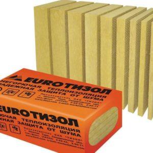 ТИЗОЛ EURO-ВЕНТ плотность 80 кг/м3 1000х600х100 мм