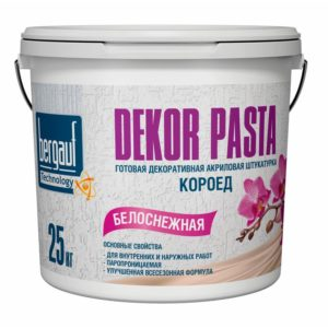 Штукатурка декоративная Bergauf Dekor Pasta, короед, зерно 2 мм, 25кг